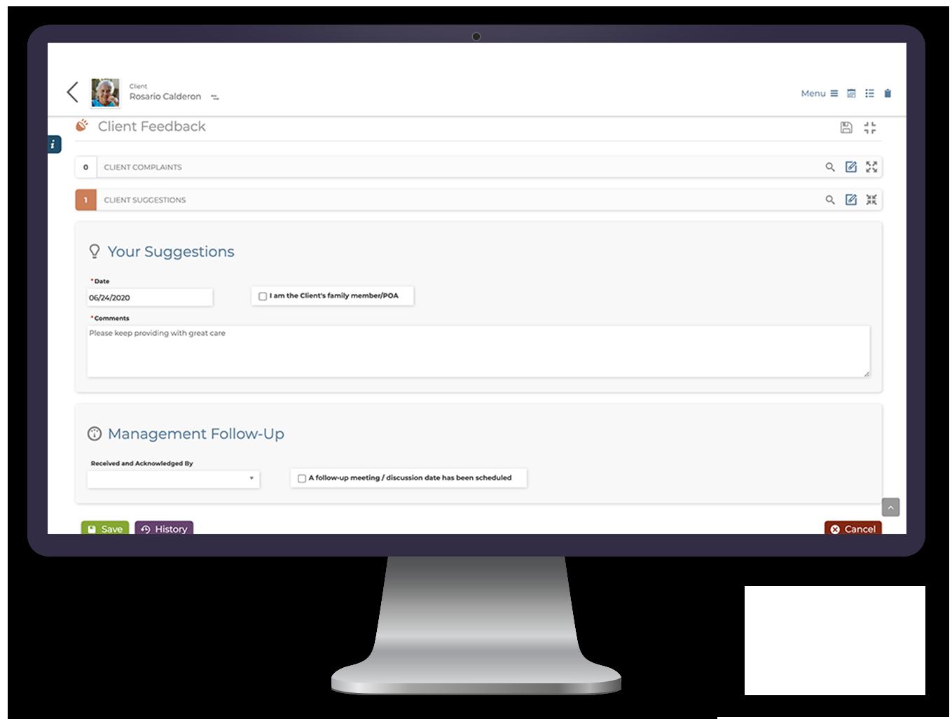 Customer and Business Intelligence - SMARTcare Desktop App