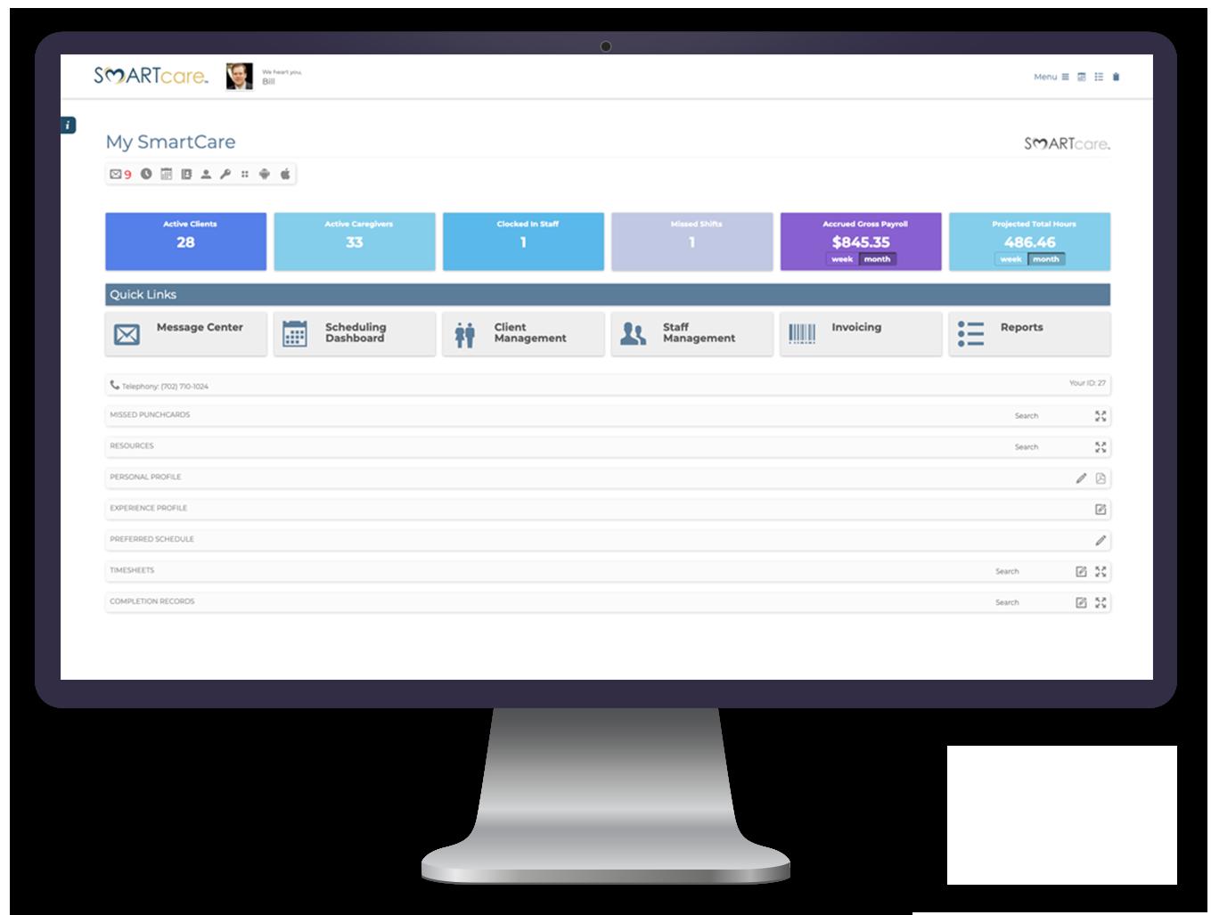 SMARTcare's Invoicing - SMARTcare Software App