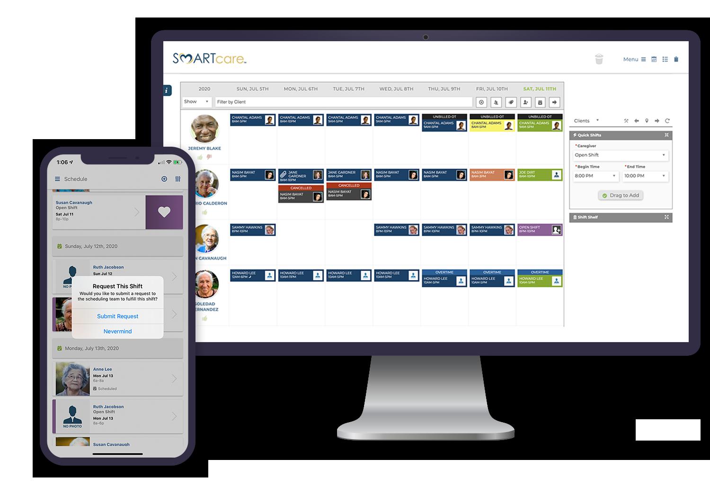 Caregiver Schedulers - SMARTcare Software App