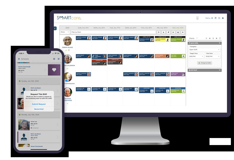 SMARTcare Scheduling - SMARTcare Software App