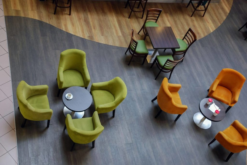 Decide on a meeting spot while shopping with seniors