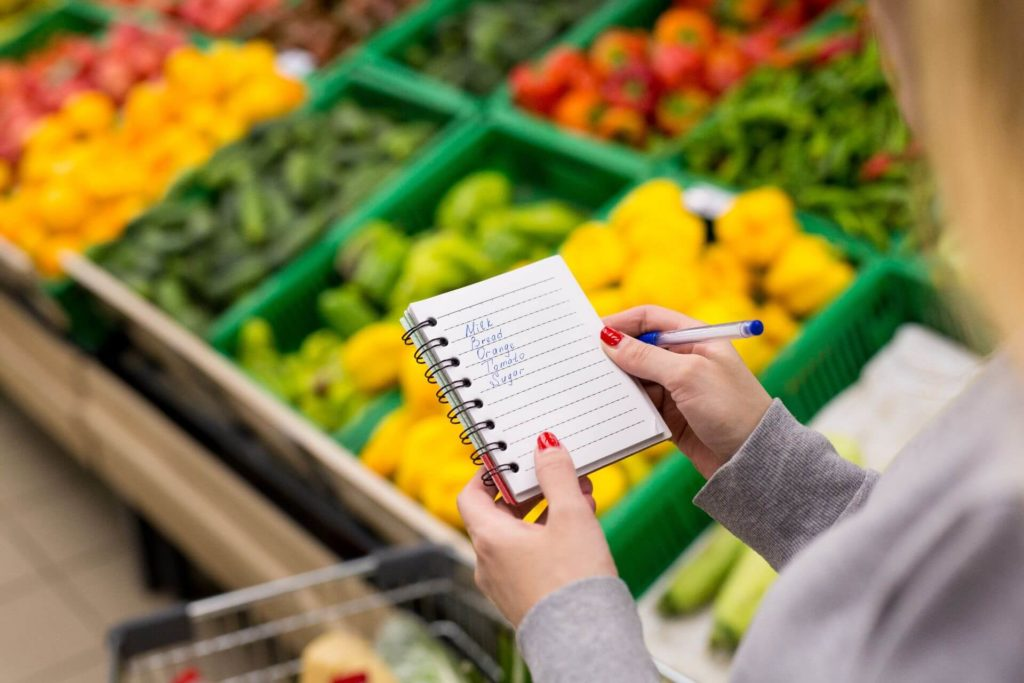 Make a list while shopping with seniors