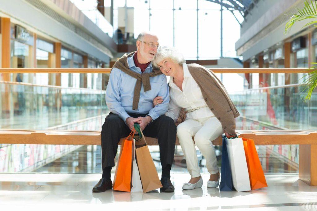 Shop with seniors when it's quiet