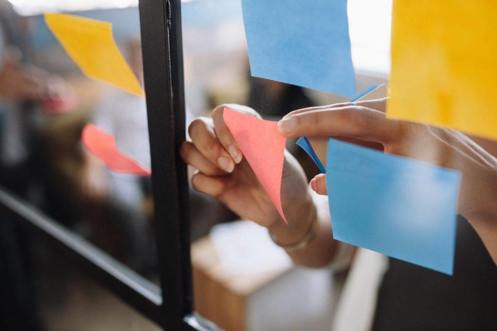 Using sticky notes